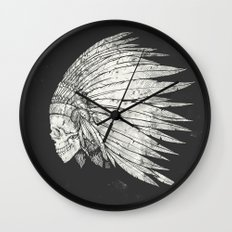 Indian Skull Wall Clock
