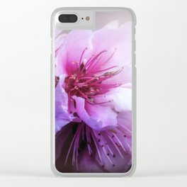 Peach Blossom Clear iPhone Case