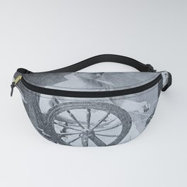 Spinning Wheel 1800s Fanny Pack