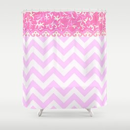 chevron and frieze Shower Curtain