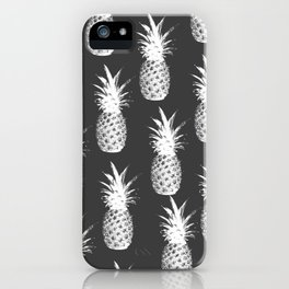 Pineapple Pattern - Dark Grey iPhone Case
