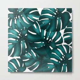 monstera leaves Metal Print