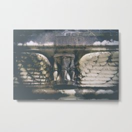 Cemetery Wings Hourglass Photograph Metal Print