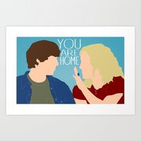 "almost famous Art Prints featuring Almost Famous ""You Are Home"" by DeanFred Rex"