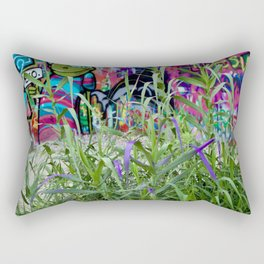 Graffiti Grass Rectangular Pillow