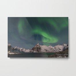 Northern Lights Over Lofoten Metal Print