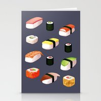 sushi Stationery Cards featuring Sushi by Skrich