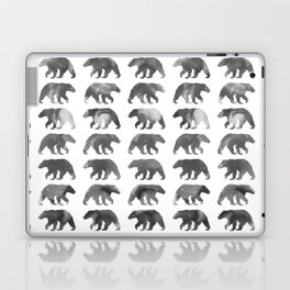 Watercolor Bear - Black & White Laptop & iPad Skin