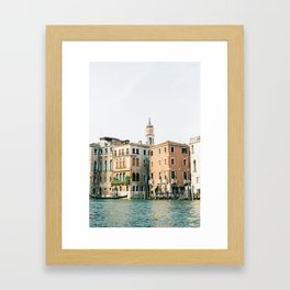 Travel photography | Architecture of Venice | Pastel colored buildings and the canals | Italy Framed Art Print