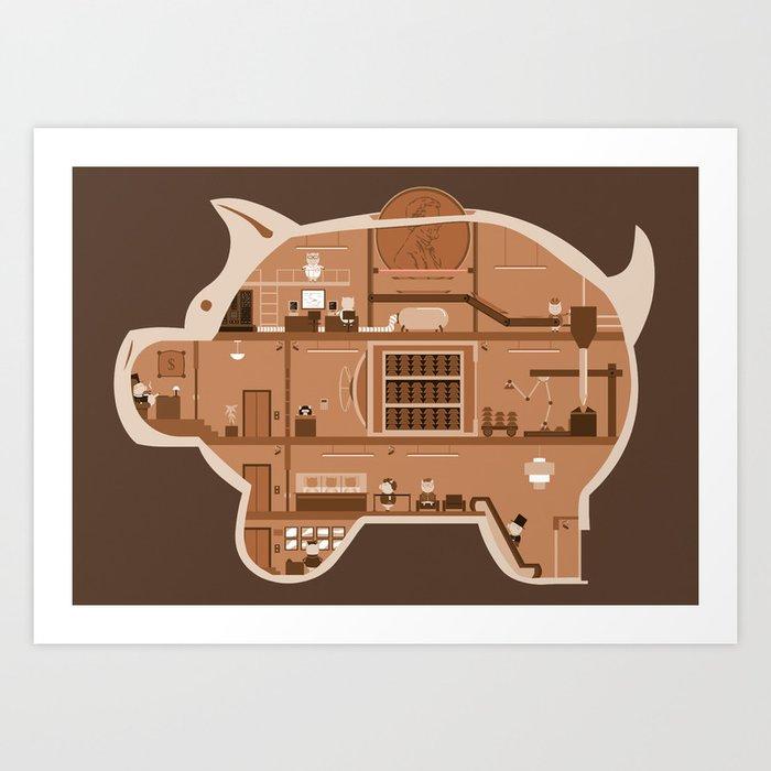 Piggy Bank Art Print