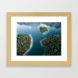 Lakeside Views at Sunset - Landscape Photography Framed Art Print