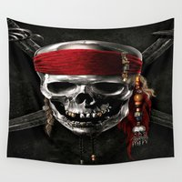 pirate Wall Tapestries featuring PIRATE by Acus