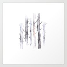 watercolor forest Art Print