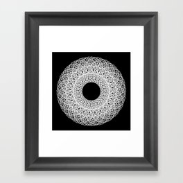 White Mandala Framed Art Print