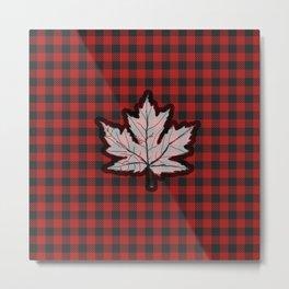 Plaidly Canadian Metal Print