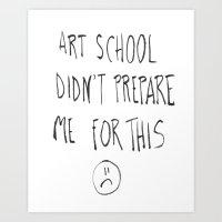 Art School Art Print