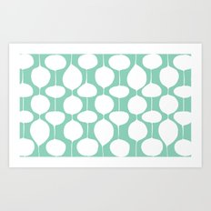 Holiday Bobbles - Festive Teal Art Print