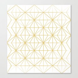 Geometric Golden Pattern Canvas Print