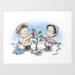A Supernatural Charlie Brown Christmas Art Print