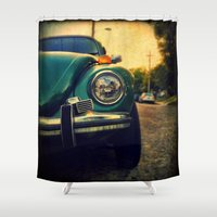 beetle Shower Curtains featuring Beetle by Melissa Lund