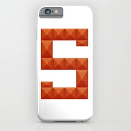 "Letter ""S"" print in beautiful design Fashion Modern Style iPhone Case"