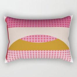 Red Fog, Geometric Landscape Rectangular Pillow
