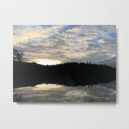 Adirondack Sunset Reflective Lake Metal Print