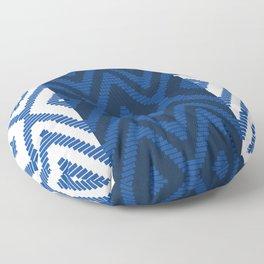Rattan in Blue Floor Pillow