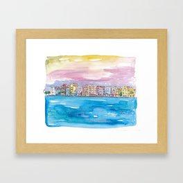 Willemstad Curacao Caribbean Sunset Framed Art Print