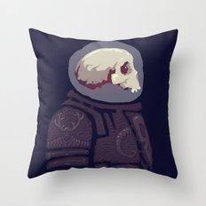 Spaceknight Skully Throw Pillow
