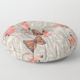 Monarch garden 001 Floor Pillow