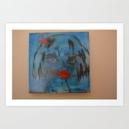 Miss Flighty Art Print