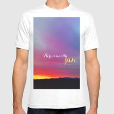 Here comes the sun Mens Fitted Tee MEDIUM White