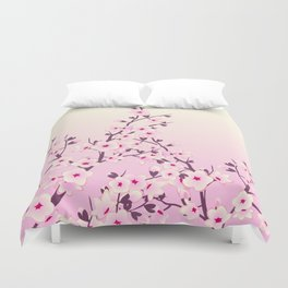 Cherry Blossoms Pink Duvet Cover