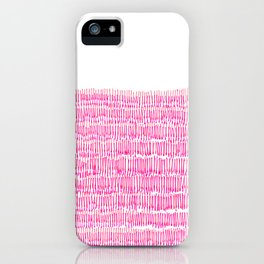 Sea of pink - a handmade pattern iPhone Case