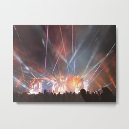 Strobe Lights Metal Print