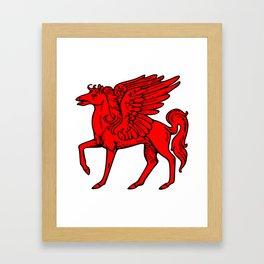 Pegasus shield 2. Framed Art Print