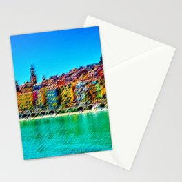 Menton, South of France Landscape Painting by Jeanpaul Ferro Stationery Cards