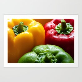 Three Peppers Art Print