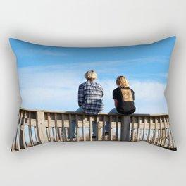 Teen Boys At The Beach Rectangular Pillow