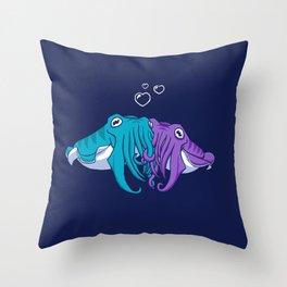 Cuddlefish Throw Pillow