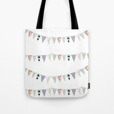 French Script Bunting Tote Bag