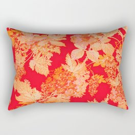 gold and red floral Rectangular Pillow