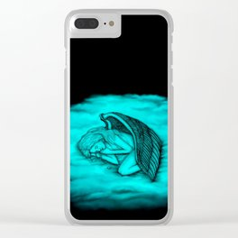 A sleeping Angel on heavenly cloud Clear iPhone Case