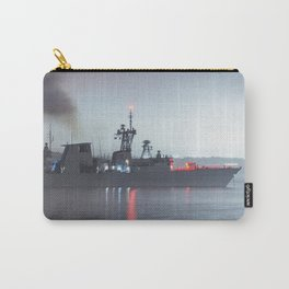 Warship Weighs Anchor Carry-All Pouch
