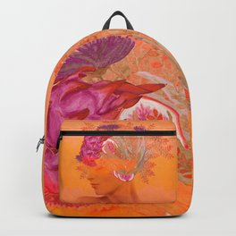 Woman in flowers III Backpack