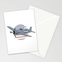 WW2 F6F Hellcat Airplane Stationery Cards