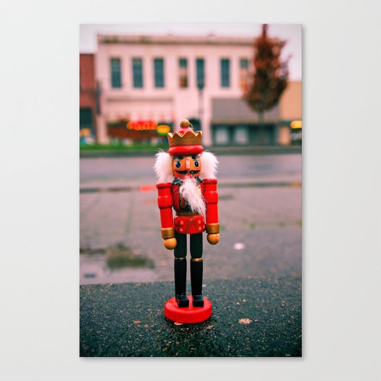 Sidewalk nutcracker Canvas Print