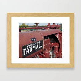 Farmall Equipment Framed Art Print