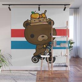 Cute Kuma Brown Bear Wall Mural